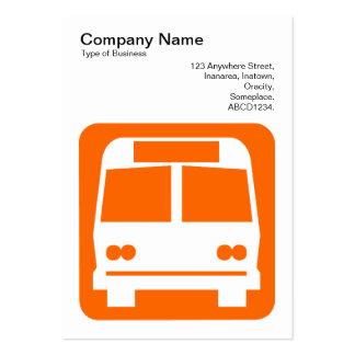 Sinal do ônibus - laranja no branco modelos cartao de visita