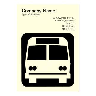 Sinal do ônibus - preto no branco (cartão de cartoes de visitas