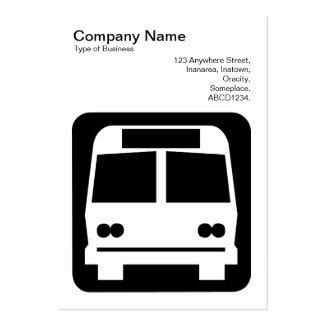 Sinal do ônibus - preto no branco cartao de visita