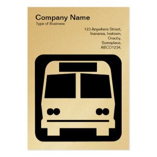 Sinal do ônibus - preto no branco (ouro) modelos cartões de visitas