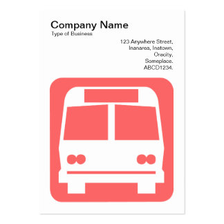 Sinal do ônibus - rosa tropical no branco cartoes de visitas