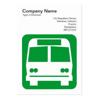 Sinal do ônibus - verde de grama no branco modelo cartoes de visita