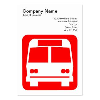 Sinal do ônibus - vermelho no branco modelo de cartões de visita
