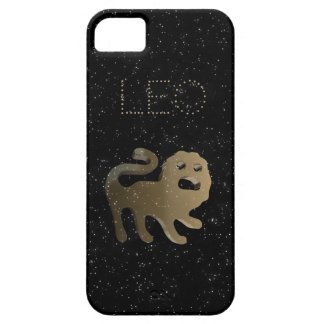 Sinal do ouro de Leo Capa Barely There Para iPhone 5