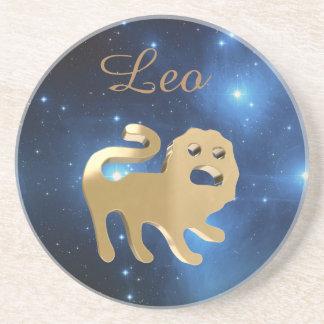 Sinal do ouro de Leo Porta-copos De Arenito