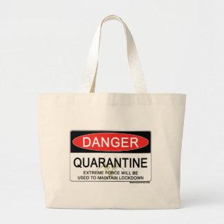 Sinal do perigo da quarentena bolsa para compras