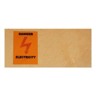 Sinal do perigo de Elcetricity 10.16 X 22.86cm Panfleto