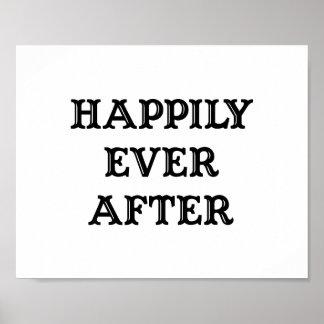 """Sinal do suporte da foto do casamento """"feliz sempr pôster"""