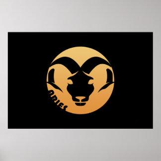 Sinal do zodíaco do Aries Pôsteres