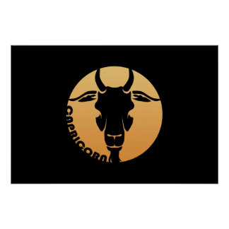 Sinal do zodíaco do Capricórnio Pôsteres