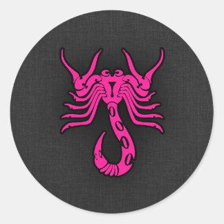 Sinal do zodíaco do escorpião da Escorpião do rosa Adesivo