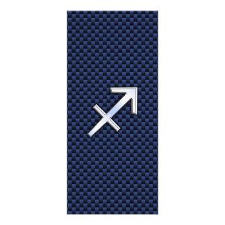 Sinal do zodíaco do Sagitário no impressão azul da 10.16 X 22.86cm Panfleto