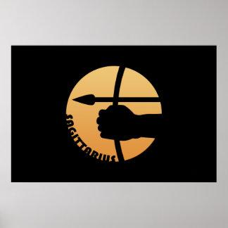 Sinal do zodíaco do Sagitário Impressão