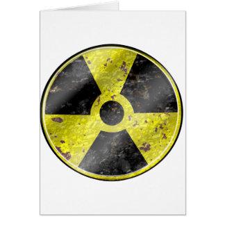 Sinal dos tempos - radiação das armas nucleares da cartão comemorativo