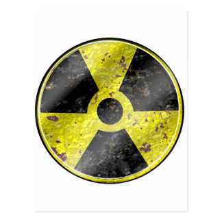 Sinal dos tempos - radiação das armas nucleares da cartão postal