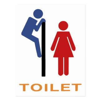 Sinal engraçado do toalete cartao postal