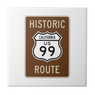 Sinal histórico da rota 99 dos E.U. da rota