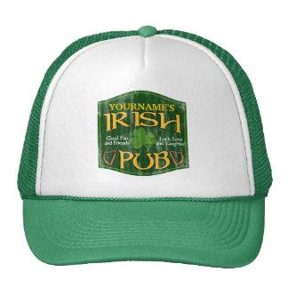 Sinal irlandês personalizado do bar bone