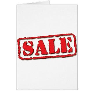 Sinal L da venda Cartão Comemorativo