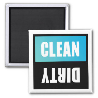 Sinal limpo ou sujo da máquina de lavar louça ímã quadrado