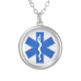 Sinal médico azul colares personalizados