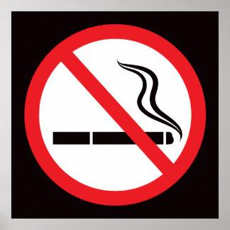 Sinal ou símbolo não fumadores poster anti-fumaça