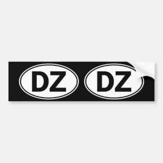 Sinal oval da identidade da DZ Adesivo Para Carro