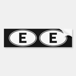 Sinal oval da identidade de E Adesivo Para Carro