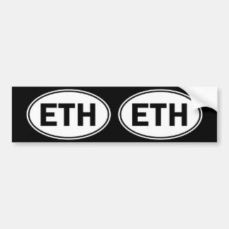 Sinal oval da identidade de ETH Adesivo Para Carro