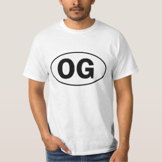Sinal oval da identidade de OG T-shirts