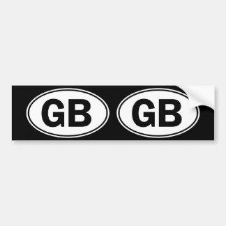 Sinal oval da identidade do GB Adesivo Para Carro
