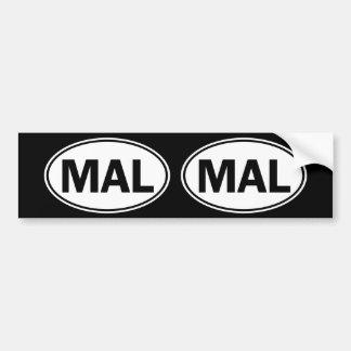 Sinal oval da identidade do MAL Adesivo Para Carro