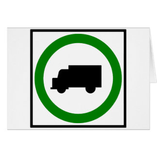 Sinal permitido da estrada do tráfego de caminhão cartão comemorativo