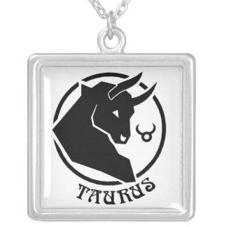 Sinal quadrado do zodíaco do Taurus Pingente