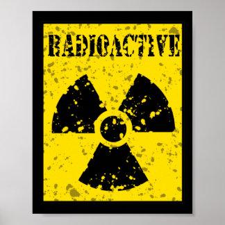 SINAL RADIOATIVO GRAP do SÍMBOLO radioactive-4 DE Posteres