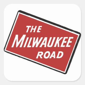 Sinal Railway 2 da estrada de Milwaukee Adesivo Quadrado