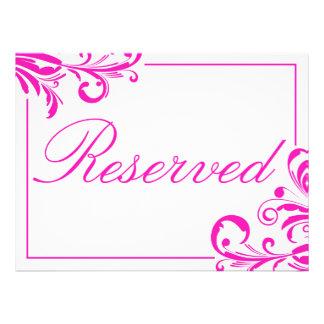 Sinal reservado de 311 redemoinhos ostentosos convites personalizados