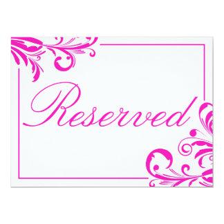 Sinal reservado de 311 redemoinhos ostentosos convite 16.51 x 22.22cm