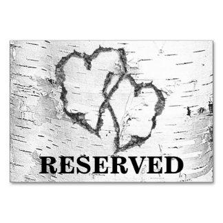 Sinal reservado do casamento dos corações do
