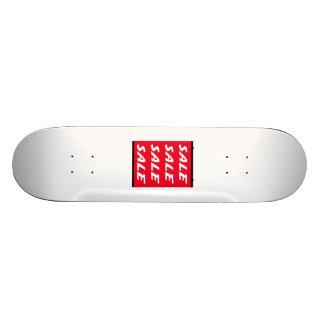 Sinal vermelho da venda skate