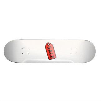 Sinal vermelho da venda skates