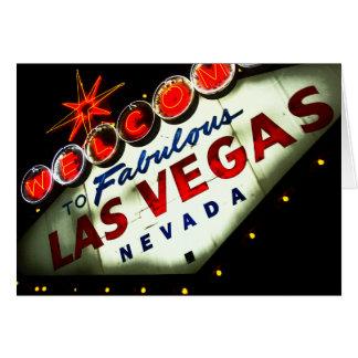 Sinal vibrante de Vegas - cartões