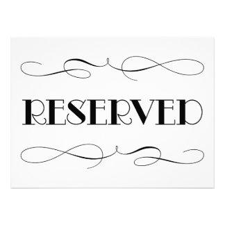 Sinal Wedding reservado do assento | Convites