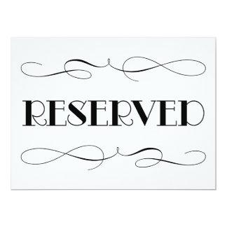 Sinal Wedding reservado do assento | Convite 16.51 X 22.22cm