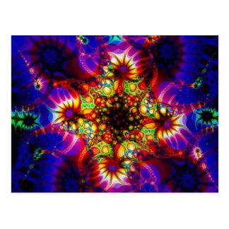 Sinapse ateada fogo da mente holográfica cartão postal