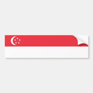 Singapore/bandeira singapurense adesivo para carro
