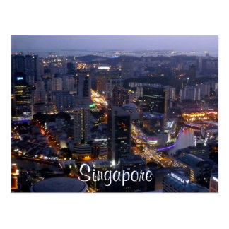 singapore cartão postal