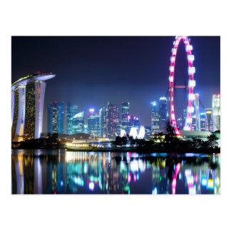 Singapore no cartão da noite