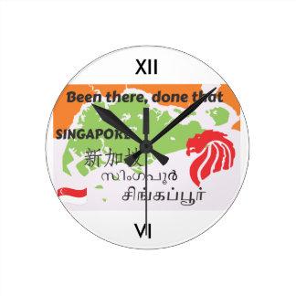 Singapore Relógio Redondo