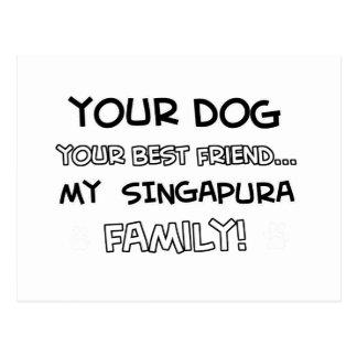 Singapura é design da família cartão postal
